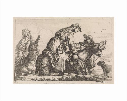 Female donkey mounts by Jan Baptist de Wael