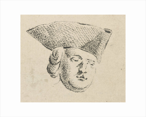 Mans head with hat by Caspar Jacobsz. Philips