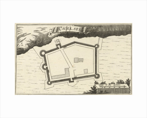 Map of the fortress Chielafa by Jacob Peeters