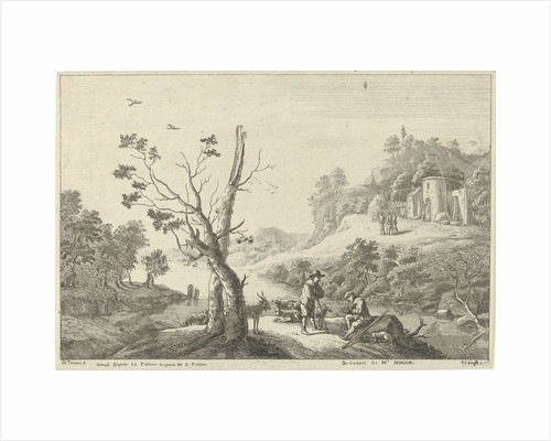 Landscape with a flute player and a shepherd by David Teniers