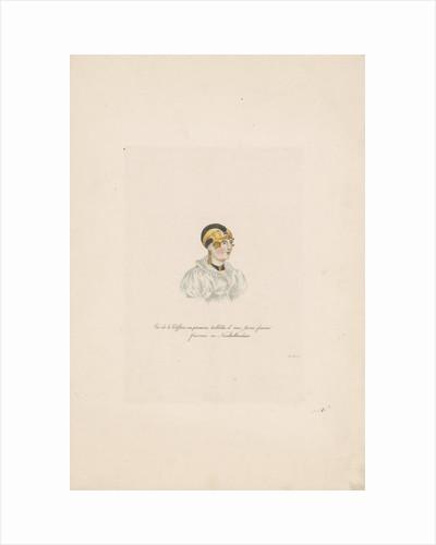 Bust of a girl in costume by Willem van Senus
