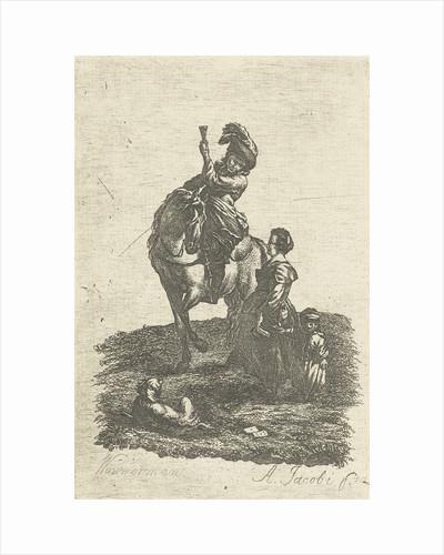 Rider on horseback by Abraham Jacobi