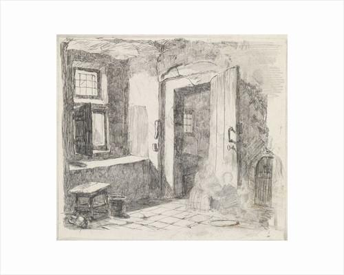 Interior with open door by David van der Kellen III