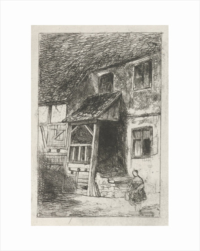 Facade of a house with a covered entrance by Jan Diederikus Kruseman