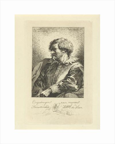 Portrait of a man by Anthonie Willem Hendrik Nolthenius de Man