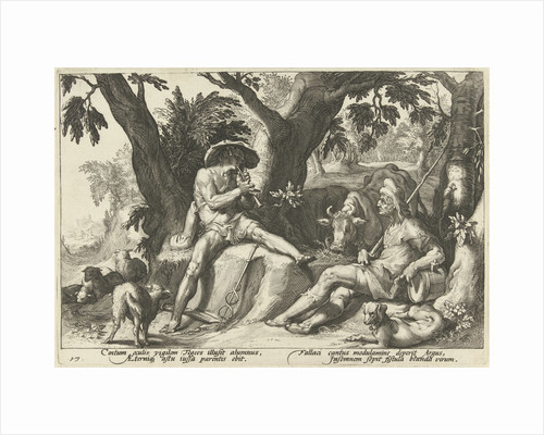 Mercury plays flute for Argus by Franco Estius