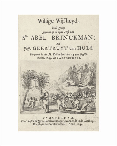 Title page for Willige Wysheijd, 1644 by Joost Hartgers