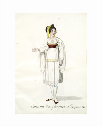 Costume des femmes de Polycandre by Mahmud II