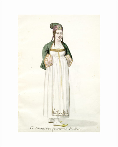 Costume des femmes de Scio by Mahmud II