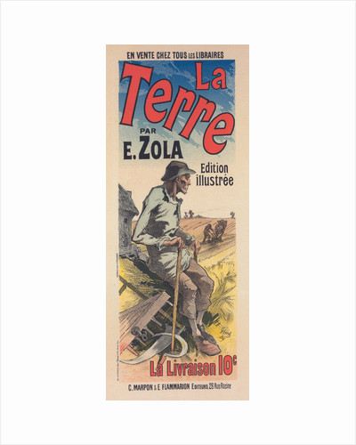 Poster for the book of M. Émile Zola, la Terre, The Earth by Jules Chéret