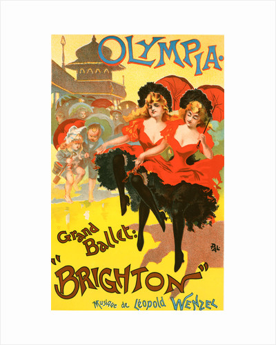 Poster for le Théâtre Olympia, Grand ballet Brighton by Jean de Paleologu