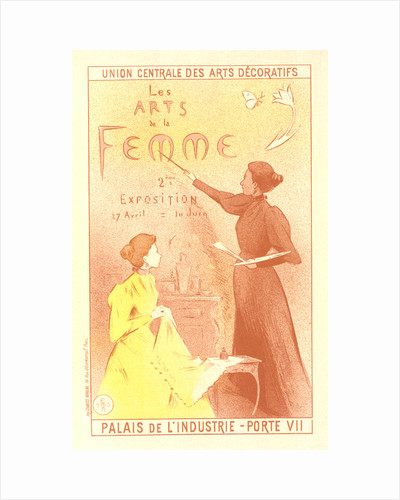 Poster for la deuxième Exposition des Arts de la Femme. Exhibition of art of the woman by Adolphe Étienne Auguste Moreau-Nélaton