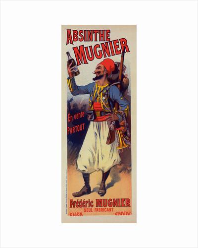 Poster for l' Absinthe Mugnier by Lucien Lefevre