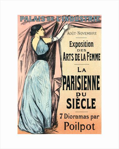 Poster for l'Exposition des Arts de la Femme (sept dioramas par Poilpot): La Parisienne de Siècle by Jean Louis Forain