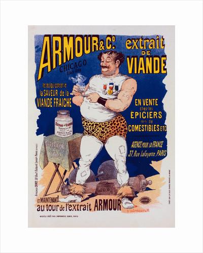 Poster for l' Extrait de viande Armour by Albert Guillaume