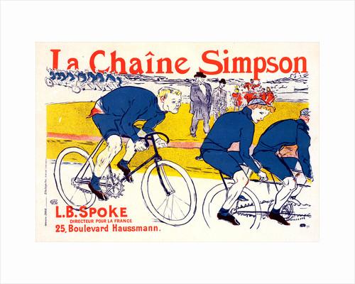 Poster for la Chaîne Simpson by Henri de Toulouse-Lautrec