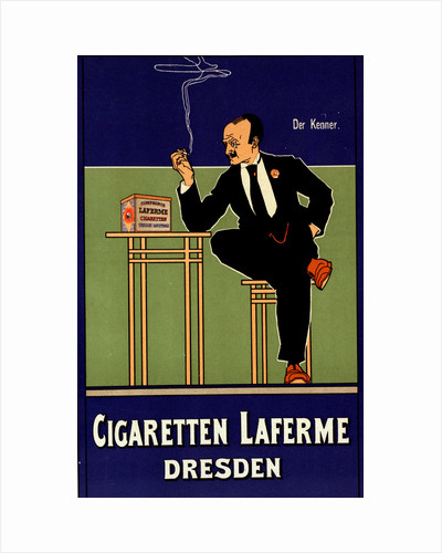 German poster for Cigarettes Laferme Dresden Germany by Fritz Rehm