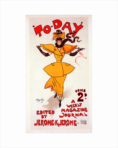 English Poster for le journal To Day by Dudley Hardy