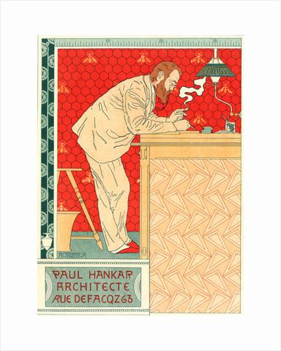 Belgian Poster for M. Paul Hankar, architecte by Adolphe Crespin