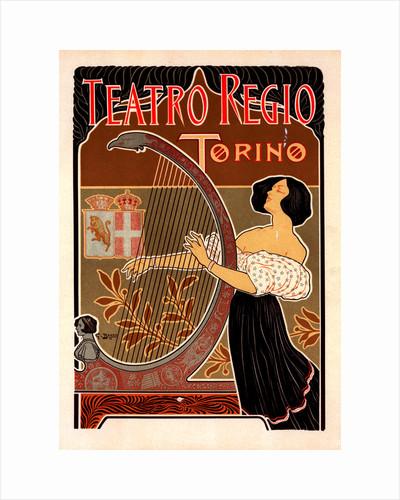 Italian poster for le Théâtre royal de Turin by Giuseppe Boano