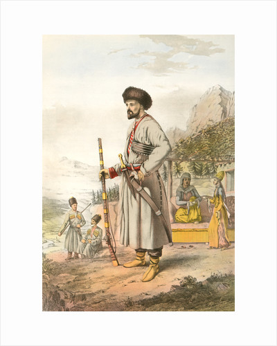 Circassian warrior by Henry J. Van Lennep