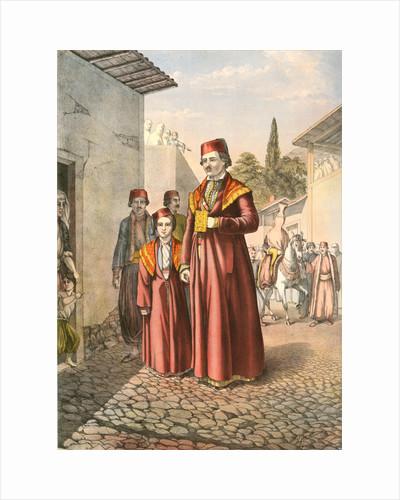 Armenian marriage procession, Travels through Turkey 1862 by Henry J. Van Lennep