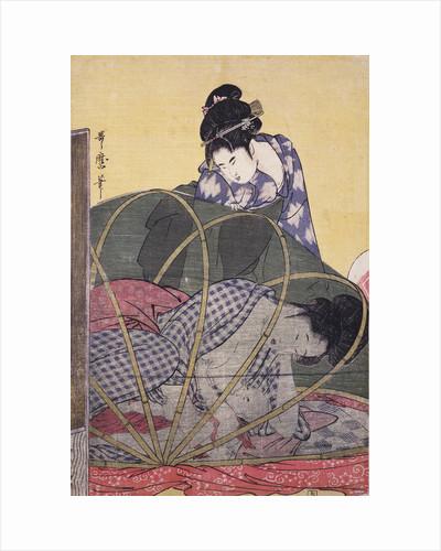 Horo-gaya, Mosquito net for a baby by Utamaro Kitagawa