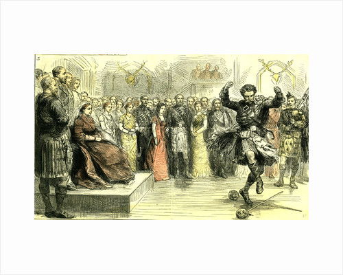 The Court in the Highlands Scotland 1880 a Sword Dance Scotland by Anonymous