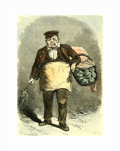 Madrid Spain Pieman 1866 Street Character by Anonymous