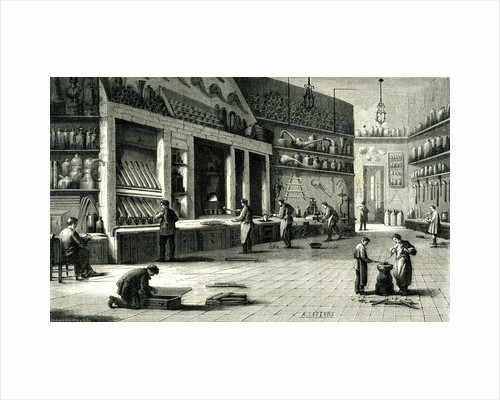 Paris Industry 19th Century Industry for Gold and Money Rue Aubry Le Boucher France by Anonymous