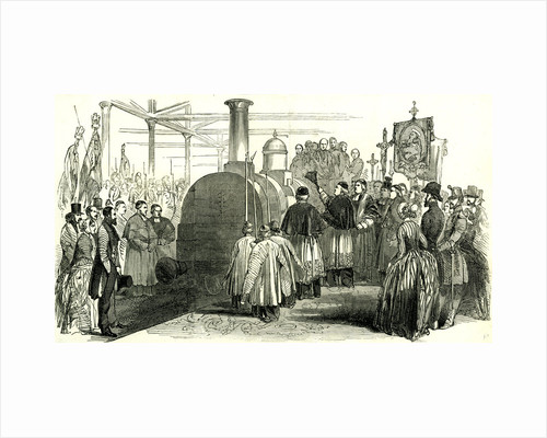 Benediction of the Rouen En Havre Railway France 1847 France by Anonymous