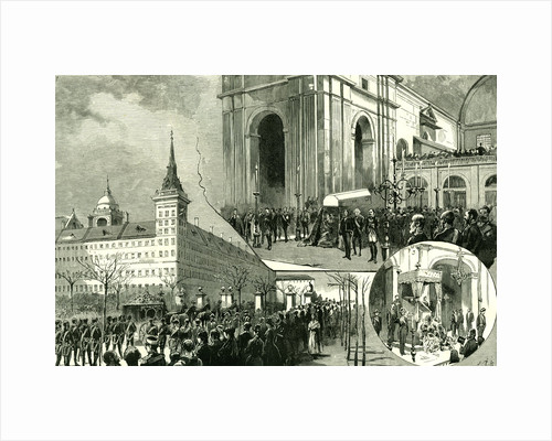 Madrid Majerit Spain 1885 the Death of the King of Spain by Anonymous