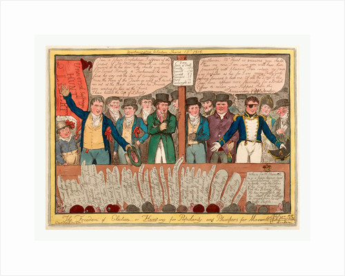 The freedom of election or hunt-ing for popularity and plumpers for Maxwell by Robert Cruikshank