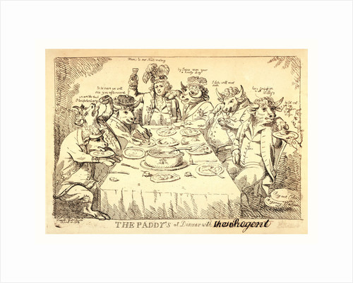 The paddy's at dinner with Puddinghead, the Regent, London, 1789 by Anonymous