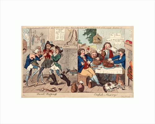 French happiness English misery by Isaac Cruikshank