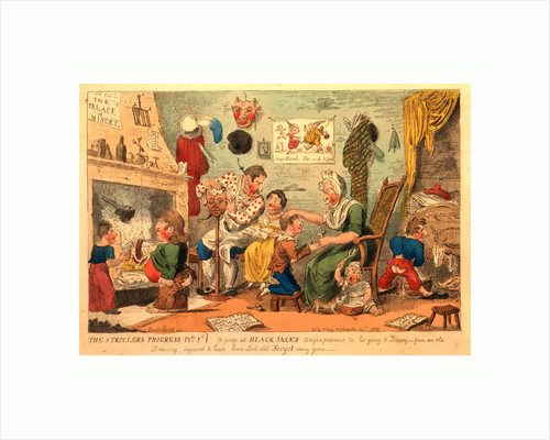 The strollers progress plte 1st. A peep at Black Jack's origin previous to his going to Douay, Cruikshank, invt. by Anonymous