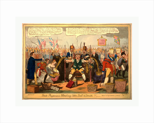 State physicians bleeding John Bull to death!! by George Cruikshank