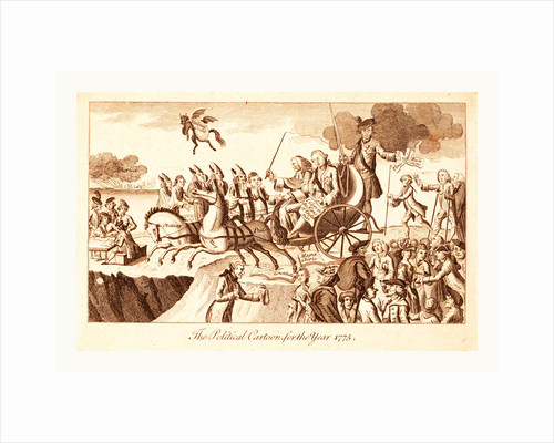 The political cartoon for the year 1775 by Anonymous