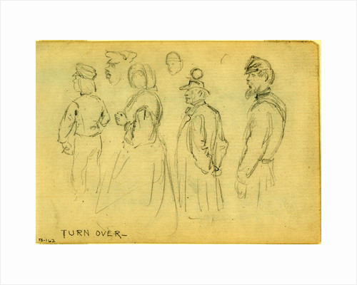 Studies of child, woman, gentleman, African American man & soldier by Anonymous