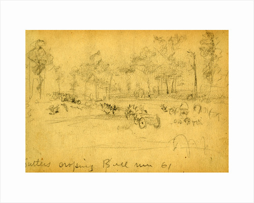 Sutlers crossing Bull Run 61, 1861 ca. July 21 by Alfred R Waud
