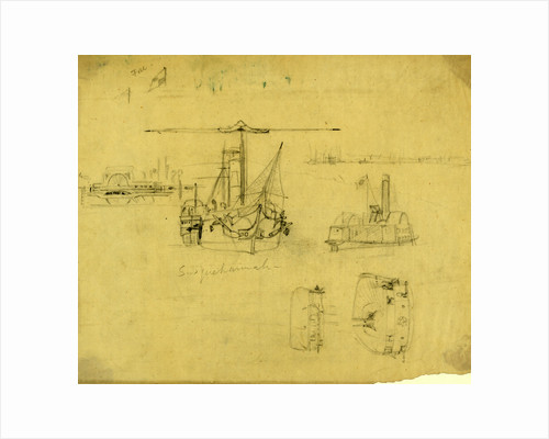 Five views of the Susquehannah and the Ceres by Alfred R Waud