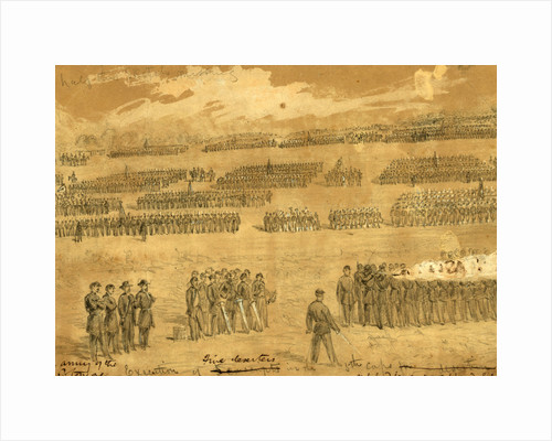 Execution of five deserters in the 5th Corps, 1863 August 29 by Alfred R Waud
