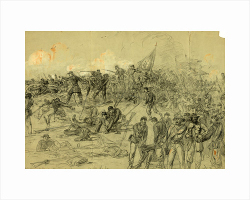 7th N.Y. Heavy Arty. in Barlows charge nr. Cold Harbor Friday June 3rd 1864 by Alfred R Waud