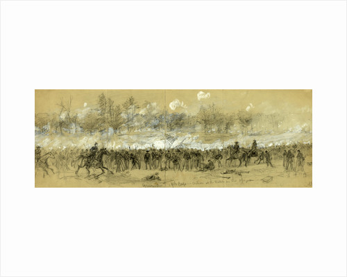 Grovers div. 19th Corps in action at the Battle in the Opequon by Alfred R Waud