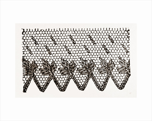 Design For Darning On Net by Anonymous