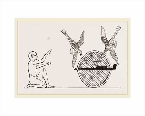 Clap-net of Ancient Egyptians for Bird-catching, Egypt by Anonymous