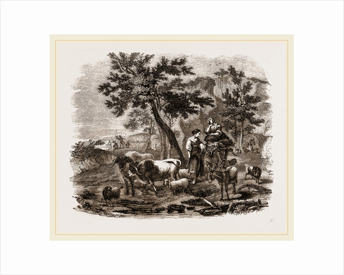Oriental Landscape and Cattle by Anonymous