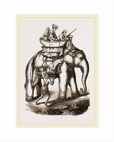 Hunters in a howdah by Anonymous