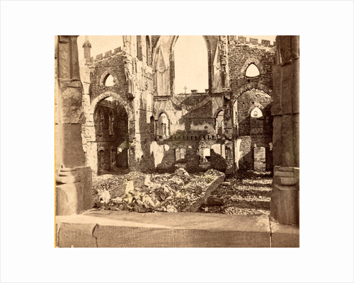 Interior of the Roman Catholic Cathedral, St. John and St. Finbar, Broad Street, Charleston, S.C., destroyed by the great fire of 1861 by Anonymous