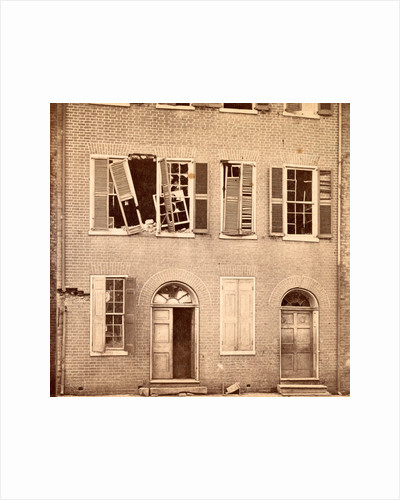 Effects of shot and shell on the north side of Petersburgh, (i.e. Petersburg), Va. Bollingbrook St. View of Dunlop house by Anonymous